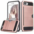Hybrid Shockproof For iPhone 7 & 6s Plus Hard Wallet Case Cover Luxury Slim