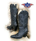 Stars&Stripes Cowboystiefel Westernstiefel Boots Black Bling Bling