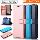 Samsung Galaxy Note 8 S8+ Slim Leather Wallet Case Flip Card Holder Stand Cover