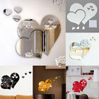 3D Mirrors Love Hearts Wall Sticker Decal Room Art Mural Decor Removable Fashion