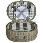 ZQ1-3750 Fashionable, washed wicker picnic basket for 4 people