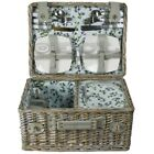 ZQ1-3126 Fashionable, washed wicker picnic basket for 4 People