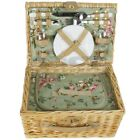 ZQ1-3744 Traditional Wicker Picnic Basket for 2 People with Cooler
