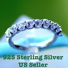 6Grape 925 Sterling Silver AAA Cubic Zirconia Women Wedding Band Platinum Plated