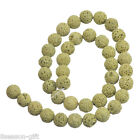 1Strand 8/10/12/14mm Yellow Volcanic Bead For Fashion Bracelet & Necklace Diy