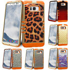 Phone Cover For Samsung Galaxy S8 / S8 Plus Rugged Impact Drop Proof Orange Case