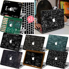 Black Math Painted Hard Case Keyboard Cover For New Macbook Pro Air 11 12 13 15