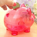 Hot-selling Clear Piggy Bank Coin Money Plastic Cash Safe Box Kids Pig Toys HGUK
