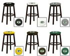 """PACKERS NFL 24"""" & 28"""" ESPRESSO WOOD METAL BAR GAME MAN CAVE SHE SHED BAR STOOL"""