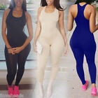 Sexy Womens Sleeveless Gym Yoga Bodycon Long Jumpsuit Trousers Casual Sport
