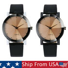 Womens Mens Luxury Watch Military Stainless Steel Dial Leather Band Wrist Watch