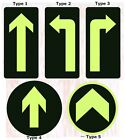 10 Sheets Emergency Arrow Glow in the Dark Exit Sign Safety Sticker Signage