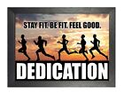 Motto 605 Running Sport Quote Poster Dedication Motivation Stay Fit Picture