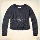 Hollister Abercrombie Women Celestial Graphic Cropped Sweatshirt Jumper Pullover