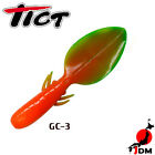 Assorted Colors TICT PADDLE or CLAW 2.8 in Soft lures 8 pcs