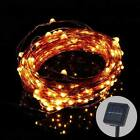 Good 10M 100LED Solar Copper Wire Waterproof Starry String Light Decoration New