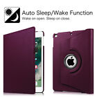 "Apple NEW iPad 9.7"" 2017 / iPad Air Rotating PU Leather Case Cover Wake/Sleep"