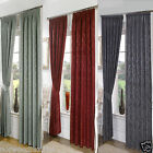 "Seattle Damask 3"" Headed Tape Pencil Pleat Curtains Pair Ready Made Fully Lined"