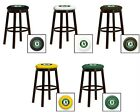 "OAKLAND ATHLETICS MLB  24"" & 28"" ESPRESSO METAL MAN CAVE SHE SHED GAME BAR STOOL"