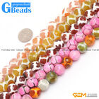 """12mm Turtleback Football Agate Faceted Round Soccer Beads For Jewelry Making 15"""""""