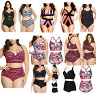 PLUS SIZE Women One Piece Swimsuit Push Up Bikini Swimwear Bathing Monokini Suit