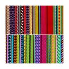Funky Coloured Abstract Madness Aztec Lines 100% Cotton Poplin Fabric