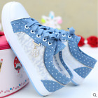 New Fashion Korean Women's High-top Lace-up zipper shoes Casual Canvas Sneakers
