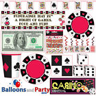 Casino Card Suit Gambling Birthday Party Tableware Decoratio
