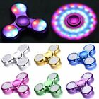 LED Flash Light Fidget Hand Spinner Finger Toy Stress Reliever EDC Focus Gyro
