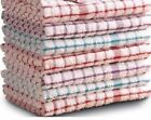 Kitchen Terry Tea Towels 100% Cotton Machine Washable Pack of 3, 6, 9, 12