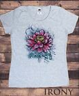 TS837 Women's T-Shirt Beautiful Lotus Tropical Floral Zen Ethical Print