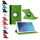 For Samsung Galaxy Tab PU Leather Cover 360 Rotating Flip Cover Stand Sleep Case