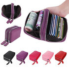 Genuine Real Leather RFID Blocking Credit ID Card Holder Pocket Wallet Zip Purse