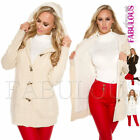 New Women's Thick Warm Cardigan Jacket Winter Outerwear Size 6 8 10 12 XS S M L