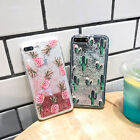 Girl's Liquid Glitter Bling Quicksand Flowing Case Cover For iPhone 6/6s/7 Plus
