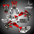 HONDA 2004 - 2017 CRF250X CRF450X GRAPHICS WRAP DECALS STICKER KIT OUTLAW SKULL