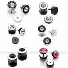 2x Stainless Steel Fake Ear Stud Earring Illusion Flesh Plug Screw Stretcher US