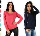 Glamour Empire. Women's Top Sweatshirt Jumper Long Sleeves Zipper Details. 143