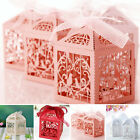 10/50/100Pcs Wedding Party Favours Candy Love Heart Bird Cage Gift Boxes New