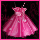 Kids Easter Hot Pinks Christmas Party Flowers Girls Dress SIZE 2-3-4-5-6-7-8-9Y