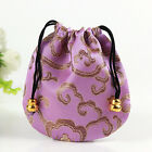 Useful 10pcs Drawstring Traditional Buddha Beads Jewellery Pouch Bags Mini