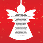 Angel Memorial Plaque Remembering our Angel in Heaven at Christmas. AHC22