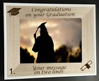 "PERSONALISED LASER ENGRAVED GRADUATION 6"" X 4"" PHOTO FRAME"