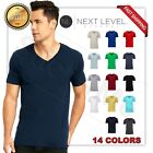 NEW MAN'S  V BLANK  T-SHIRT Premium Fitted V Neck Cotton Shirt Next Level 3200 image