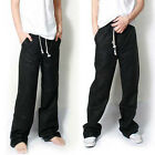 Fashion Breathable Drawstring Loose Linen Dance Yoga Sports Pants Trousers