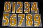 Premier League 2007/12 Gold Football Short Numbers 0-9 Plastic Sporting ID