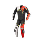 ALPINESTARS GP PLUS V2 LEATHER SUIT BLACK WHITE RED FLUO YELLOW FLUO