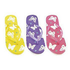 Girls Butterfly Flip Flops Sandals Pool Shoes Sizes 9-3 UK NEW FREE POST