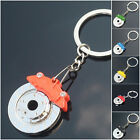 Metal Brake Disc Shape Car Keychain Keyfob Engine Chain Ring Keyring 6 Colours