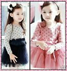 FREE SHIPPING Easter Polkadot Wedding Party Flower Girls Dresses AGE 2 3 4 5 6 7